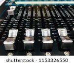 mixer in control room | Shutterstock . vector #1153326550