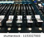 mixer in control room | Shutterstock . vector #1153327003