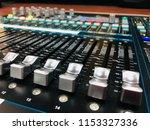 mixer in control room | Shutterstock . vector #1153327336