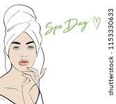 beauty spa face  pretty woman... | Shutterstock .eps vector #1153330633
