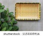 beautiful bamboo melamine plate ... | Shutterstock . vector #1153335916