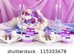 Serving Fabulous Wedding Table...