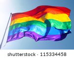 Rainbow Flag  Sun  Wind  And...
