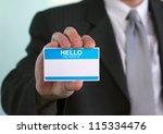 hello my name is... | Shutterstock . vector #115334476