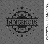 indigenous realistic dark emblem | Shutterstock .eps vector #1153347709