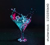martini cocktail drink splash... | Shutterstock . vector #1153350640