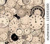 antique watch faces steam punk... | Shutterstock . vector #1153351000