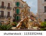 the beautiful fountain of diana ...   Shutterstock . vector #1153352446