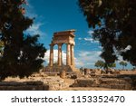 ruins of an ancient temple at... | Shutterstock . vector #1153352470