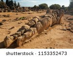 ancient human statue on the... | Shutterstock . vector #1153352473