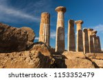 ruins of an ancient temple at... | Shutterstock . vector #1153352479