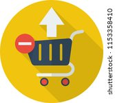 remove from cart icon design | Shutterstock .eps vector #1153358410