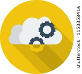 cloud service icon design | Shutterstock .eps vector #1153358416