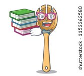 student with book wooden fork... | Shutterstock .eps vector #1153362580