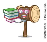 student with book mallet mascot ... | Shutterstock .eps vector #1153362856