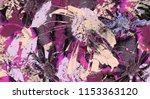 art graphic and watercolor... | Shutterstock . vector #1153363120