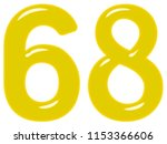 numeral 68  sixty eight ... | Shutterstock . vector #1153366606