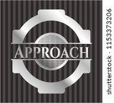 approach silvery badge | Shutterstock .eps vector #1153373206