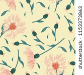 seamless floral pattern with... | Shutterstock .eps vector #1153373863