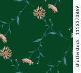seamless floral pattern with... | Shutterstock .eps vector #1153373869