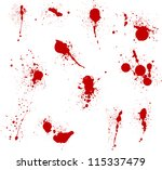 blood splatters | Shutterstock .eps vector #115337479