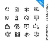 vector flat icon set in line...