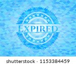 expired realistic light blue... | Shutterstock .eps vector #1153384459