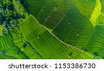 aerial view of the rice field ... | Shutterstock . vector #1153386730