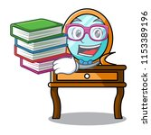 student with book dressing... | Shutterstock .eps vector #1153389196