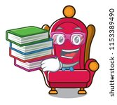 student with book king throne... | Shutterstock .eps vector #1153389490