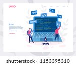 engineering  programmer... | Shutterstock .eps vector #1153395310
