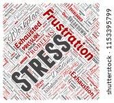 vector conceptual mental stress ... | Shutterstock .eps vector #1153395799
