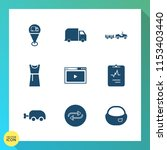 modern  simple vector icon set... | Shutterstock .eps vector #1153403440