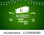 happy independence day pakistan ... | Shutterstock .eps vector #1153406080