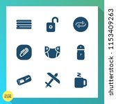 modern  simple vector icon set... | Shutterstock .eps vector #1153409263