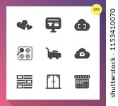 modern  simple vector icon set... | Shutterstock .eps vector #1153410070