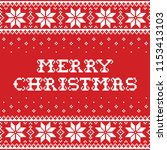 merry christmas traditional... | Shutterstock .eps vector #1153413103