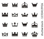 set collection crown king logo   Shutterstock .eps vector #1153415926