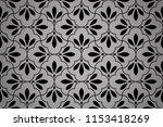 flower geometric pattern.... | Shutterstock .eps vector #1153418269