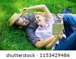 couple in love spend leisure... | Shutterstock . vector #1153429486
