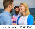 couple in love happy dating ... | Shutterstock . vector #1153429906
