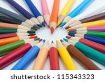 color pencils | Shutterstock . vector #115343323