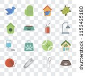 set of 16 transparent icons... | Shutterstock .eps vector #1153435180