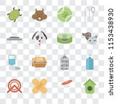 set of 16 transparent icons... | Shutterstock .eps vector #1153438930