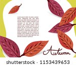 dogwood autumn leaves around... | Shutterstock .eps vector #1153439653