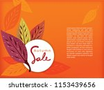 sale banner for autumn season... | Shutterstock .eps vector #1153439656