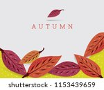 red and purple dogwood leaves... | Shutterstock .eps vector #1153439659