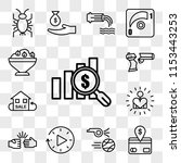 set of 13 transparent icons... | Shutterstock .eps vector #1153443253