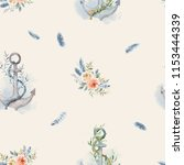 watercolor background seamless... | Shutterstock . vector #1153444339