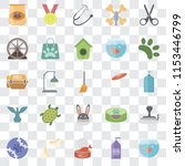 set of 25 transparent icons... | Shutterstock .eps vector #1153446799